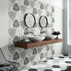 SomerTile 8.625x9.825-inch Fantasia Mix Hex Porcelain Floor and Wall Tile (Case of 25) | Overstock.com Shopping - The Best Deals on Floor Tiles