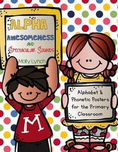 Alpha-Awesomeness & Spectacular Sound Posters will not only jazz up your classroom, they'll also help your kiddos master those tricky phonics sounds! The goal of these posters is to help children learn and remember the connection between sounds and letters.