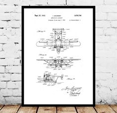 Sea Plane Patent, Sea Plane Poster, Sea Plane Blueprint, Sea Plane Print, Sea Plane Art, Sea Plane Decor by STANLEYprintHOUSE  3.00 USD  We use only top quality archival inks and heavyweight matte fine art papers and high end printers to produce a stunning quality print that's made to last.  Any of these posters will make a great affordable gift, or tie any room together.  Please choose between different sizes and col ..  https://www.etsy.com/ca/listing/482748306/sea-plane-patent-s..
