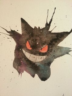 Watercolor Gengar  https://www.etsy.com/listing/201444635/watercolor-gengar