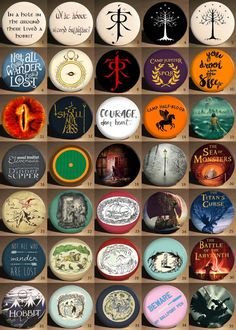These pins capture the most favorite factors from LOTR, Narnia and Percy Jackson. I hope you can find the pins you want. If not, why not contact me for custom order?  Perfect for all genders and ages. Multiple uses.  Each pin is sold individually. Buy bulk for better price. Find listing for bulk order here: https://www.etsy.com/shop/ByELLAClub?ref=hdr_shop_menu&search_query=bulk  There are five size to pick, 2.5, 3.2, 4.4 and 5.8 cm in diameter (1, 1 1/4 , 1 3/4, 2 1/3 and 3 in diameter)…