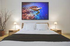 Photo Art: Verträumt & Farbintensiv! Für Meeresliebhaber, Tauchfanatiker und Träumer wird das Schlafzimmer zum einzigartigen Rückzugsort.