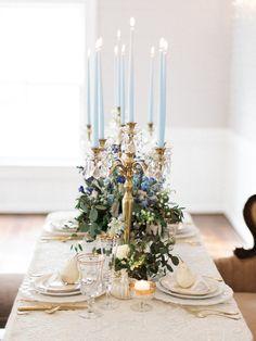 Gold Candelabra Wedding Centrepieces // Photography ~ Live View Studios