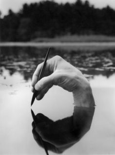Black & White Photography Inspiration Picture Description (Surreal Photography by Arno Rafael Minkkinen) Writing Prompt: write the text that the hand Surrealism Photography, Abstract Photography, Creative Photography, Portrait Photography, Reflection Photography, Soft Light Photography, Photography Ideas, Human Photography, Fantasy Photography