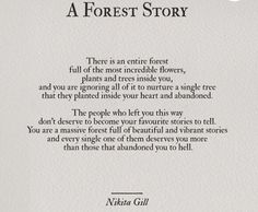 a forest story