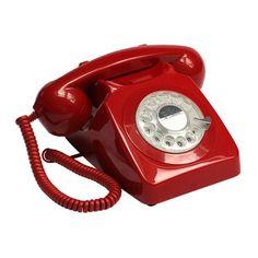 teléfono retro 746 rotary rojo | Tiendas On