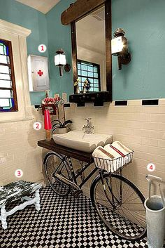 Banheiro Vintage Industrial
