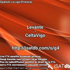 #Levante #CeltaVigo #SpanishLaLigaPrimera Live FTA satellite broadcast streams. Hangi kanalda maçı şifresiz veren kanallar. Flux de radiodiffusion satellite en direct de la FTA. يعيش اتفاقية التجارة الحرة بين تيارات البث الفضائي. http://isatdb.com/s/g4