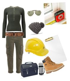 """girl construction"" by karanlyn on Polyvore featuring russell+hazel, STELLA McCARTNEY, Uniqlo, Abercrombie & Fitch, Ray-Ban, Dakine and Lugz"