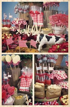 Petting Zoo Birthday Party, Cow Birthday, Farm Animal Birthday, Picnic Birthday, Barnyard Party, Farm Party, Western Birthday Cakes, Horse Party Favors, Hillbilly Party