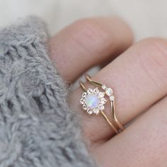 Gold Opal and Sapphire Fleur de Coeur Ring. would look nice with citrine around the opal Cute Jewelry, Jewelry Accessories, Jewelry Design, Gold Jewelry, Gold Bracelets, Pandora Jewelry, Lego Jewelry, Jewelry Rings, Vintage Jewelry