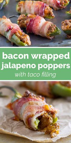 Mexican Food Recipes, Healthy Recipes, Bacon Recipes, Healthy Food, Appetizer Recipes, Appetizers, Bacon Wrapped Jalapeno Poppers, Cuban Cuisine, Taco Fillings
