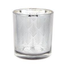 Debenhams Metallic glass triangle tea light holder £3