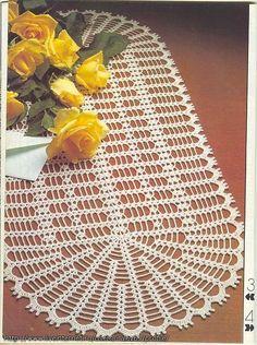 Beautiful array of crochet doilies with patterns Crochet Table Runner Pattern, Crochet Doily Patterns, Crochet Tablecloth, Lace Patterns, Crochet Designs, Crochet Doilies, Crochet Diy, Crochet Home, Thread Crochet