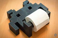 Space invaders soporte papel higienico