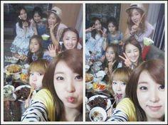 4Minute and SISTAR Members Enjoy Snacks Together #Mnet #Kpop #4Minute #SISTAR