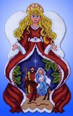 Design Works offers the greatest variety and largest product mix of counted cross stitch crafts in the needlework industry. Plastic Canvas Ornaments, Plastic Canvas Christmas, Plastic Canvas Crafts, Plastic Canvas Patterns, Beaded Cross Stitch, Cross Stitch Kits, Cross Stitch Patterns, Beaded Christmas Ornaments, Ancient Egyptian Art