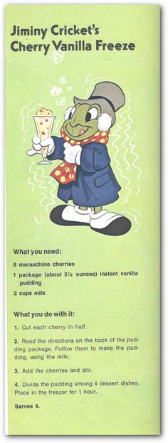 Let's celebrate the Fourth of July with some good old-fashioned treats from Walt Disney's Mickey Mouse Cookbook: Favorite Recipes from Mickey and His substitute cherry for peaches or strawberries? Disney Drinks, Disney Desserts, Frozen Desserts, Just Desserts, Dessert Recipes, Disney Dishes, Frozen Treats, Disney Food Recipes, Cherry Desserts