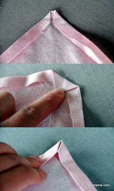 costura de servilleta de tela