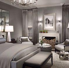 Grey themed bedroom
