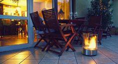 Designkamin auf Ihrer Terrasse