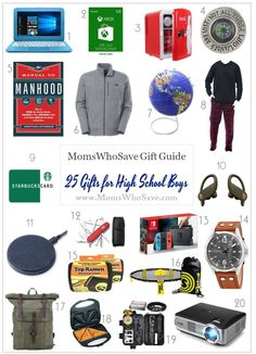 Gift Guide | Gifts for High School Boys / Teen Boys #holidaygifts #giftideas #boygifts #teengifts #teenboygifts #teenagergifts #giftguide #gifts #Christmasgifts