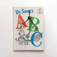 Dr. Seuss book clock
