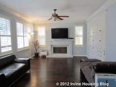 """living room """"white paint"""" ideas for dark leather furniture and dark wood floors - Google Search"""