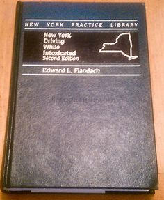 New York Driving While Intoxicated by Edward Louis Fiandach (1996,