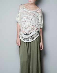 KNOTS PONCHO - Shirts - Woman - ZARA Lithuania