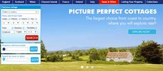 Banner with search from Cottages4u #Web #Banner #Digital #Online #Marketing #Travel #Holidays #Search