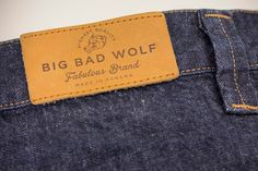 Hot printed leather label...