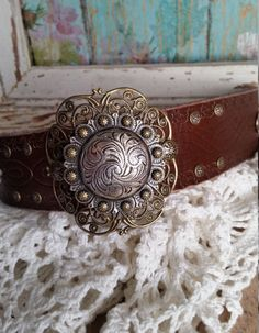 RoUnD Berry Concho Bracelet>> #Silver #Bronze #TwoTone #Filigree #Native #Southwestern #BohemianChic #Rustic #Romantic #Country #Bold #Gypsy by BellaNotteDesigns on Etsy