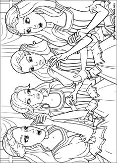 Barbie and the three Musketeers. Barbie coloring page.190