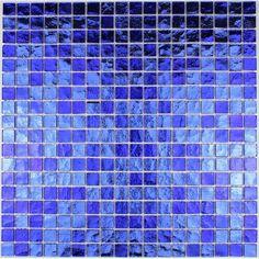 carrelage verre mosaique douche salle de bain GLOSS BLEU - carrelage-mosaique