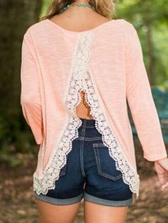 This lace trim back is cute and fun!