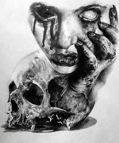 Tattoos Discover skizzieren Horror-Par stephane bueno tatoueur Studio schwarz Ecke Tätowierung V. Evil Skull Tattoo, Evil Tattoos, Creepy Tattoos, Skull Tattoo Design, Demon Tattoo, Horror Tattoos, Tattoo Designs, Samurai Tattoo, Dark Art Illustrations