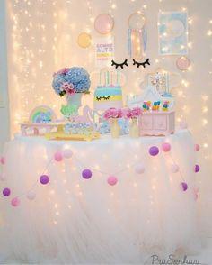 Risultati immagini per festa unicornio Unicorn Birthday Parties, First Birthday Parties, Birthday Party Decorations, Girl Birthday, First Birthdays, Pink Decorations, Unicorn Baby Shower, Slumber Parties, Baby Party