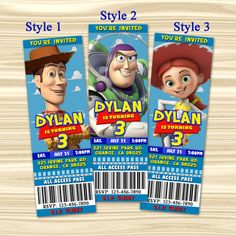 Toy Story Ticket Invitation. Toy Story by KidsPartyBoutique