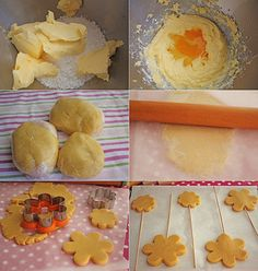 Galletas de flores decoradas con fondant , Hoy os enseñamos a preparar unas deliciosas galletas ideales para la merienda, unas Flores de galletas que gustarán a toda la familia, y no sólo co...