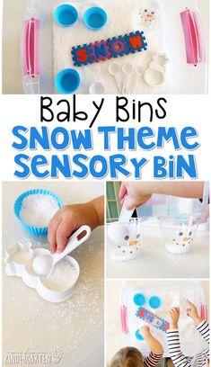 Baby Bins: Winter - Mrs. Plemons' Kindergarten Snow Activities, Infant Activities, Preschool Activities, Snow Theme, Winter Theme, Infant Lesson Plans, Sensory Bins, Sensory Table, Sensory Play