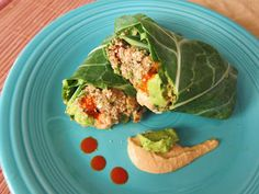"""Roll up some Raw Mexican Rice Burritos with Guacamole and Chipotle """"Cheddar"""" Sauce for an uncooked feast."""