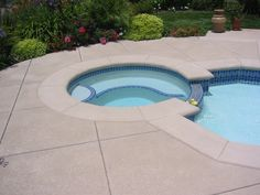 Cool Deck For Pools | SaltilloTile, Lace, and Continuous Stone FX