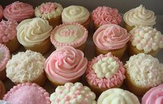 Check out Baby girl cupcakes...