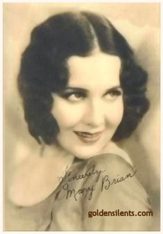 old movie stars photos   Two portraits of the beautiful silent moviestar Mary Brian; the first ...