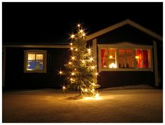 my house and our christmas tree. aand, this was the first shot I ever took with my new tripod xD