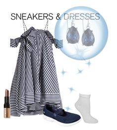 """""""Sneakers and Dresses contest"""" by empathetic ❤ liked on Polyvore featuring MSGM, 2028, Skechers, Kate Spade and Bobbi Brown Cosmetics"""