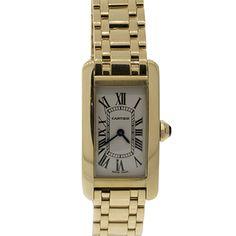 OFF Discount Vintage Cartier Tank Americaine Yellow Gold Watch, Cartier Tank Americaine, Square Watch, Luxury Jewelry, Vintage Watches, Gold Watch, Jewelry Watches, Quartz, Yellow, Accessories