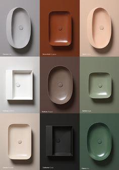 Bathroom sink varieties from Azzurra Ceramica. Which is your favorite? Bathroom Inspiration, Interior Inspiration, Bathroom Ideas, Interior Ideas, Lavabo Design, Bathroom Toilets, Bathrooms, Vintage Modern, Bathroom Interior Design