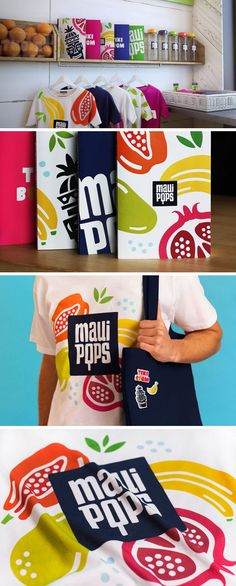 Brandon Archibald Studio have created a retail concept design for the branding, identity and interior design for Maui Pops, a popsicle and juice store in Hawaii.